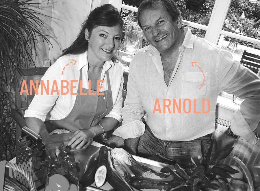 La cuisine des légumes frais d'Arnold et Annabelle